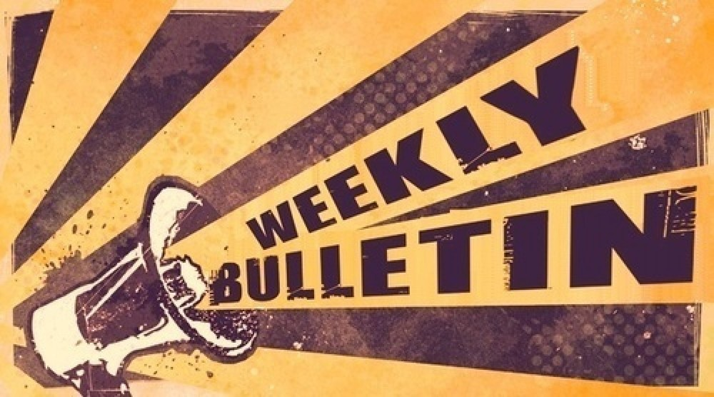 Weekly Bulletin - January 11th , 2020