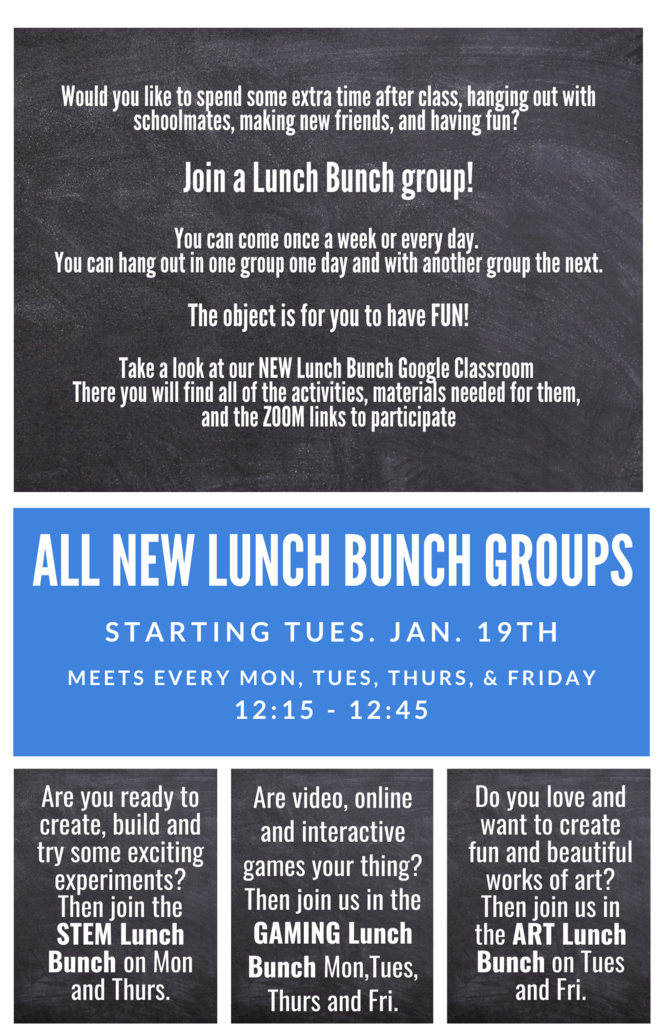 New Lunch Bunch Flyers