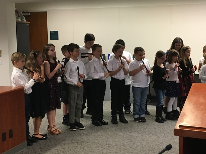 WCE 3rd graders perform at the Board Meeting