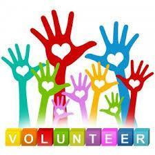 Volunteer - hands raised
