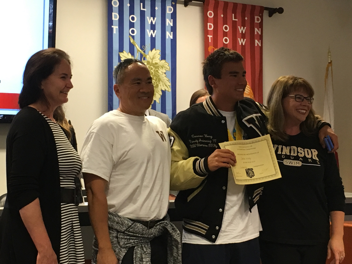Picture of Connor Wong and parents