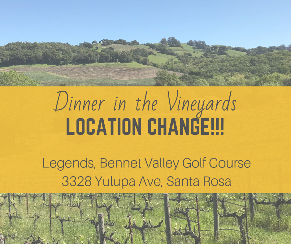 Change of Venue Notice for Dinner in the Vineyard