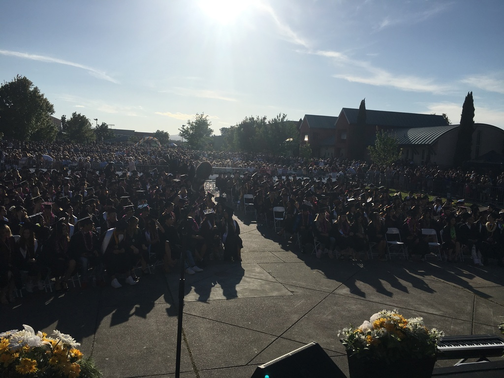 Senior class at WHS Commencement
