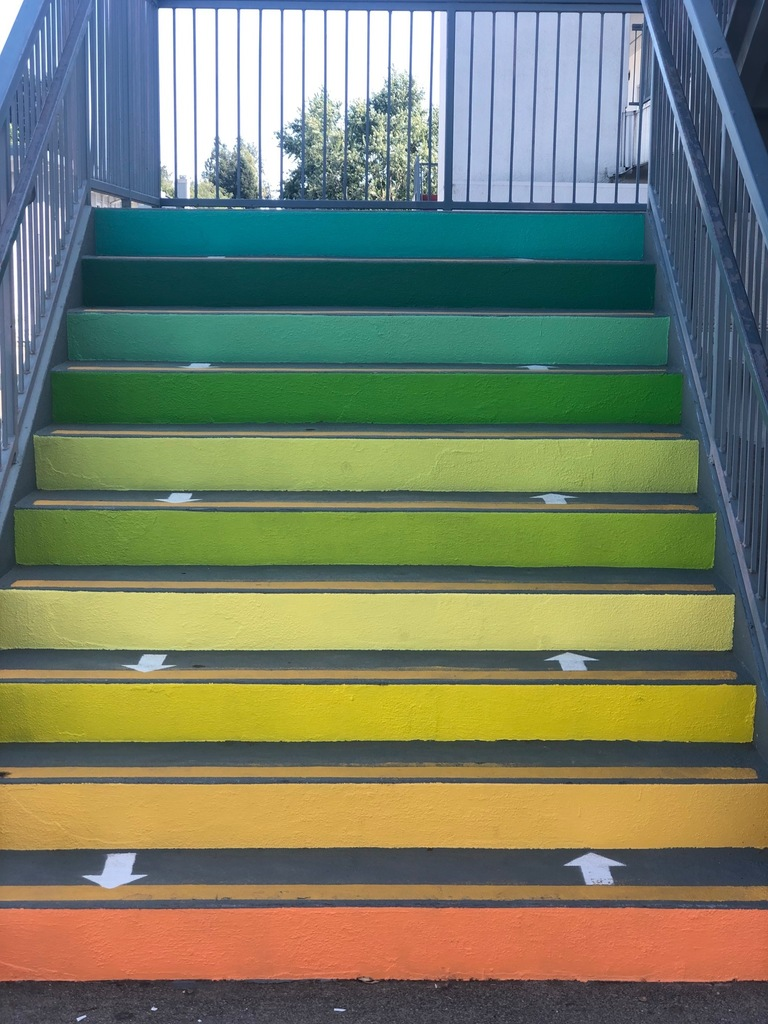 Rainbow steps gradas de colores