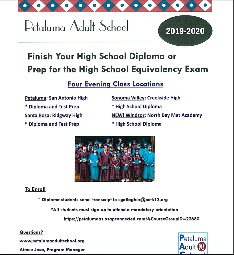 Diploma Completion Information