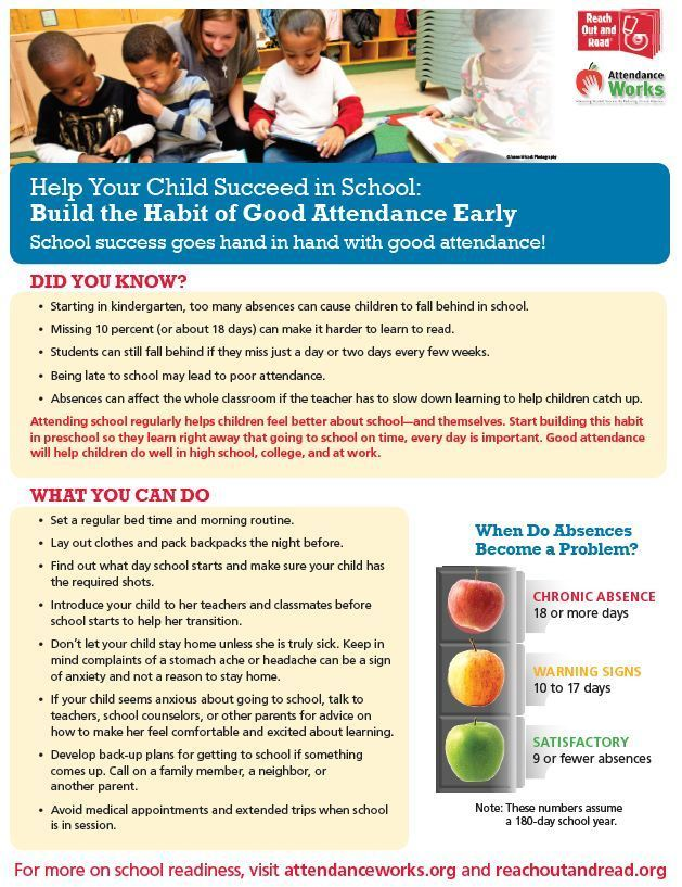 Good habits for optimal attendance!