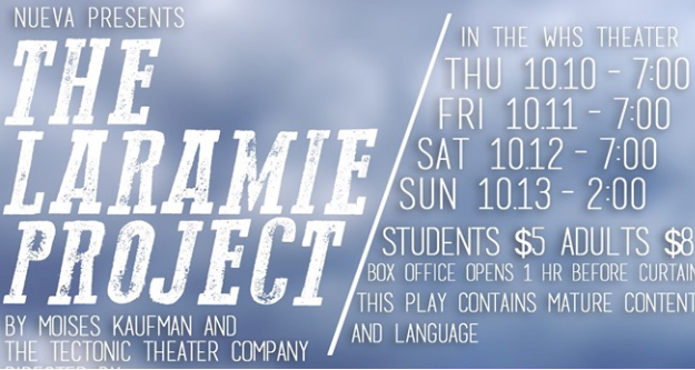 Poster for the Laramie Project at WHS
