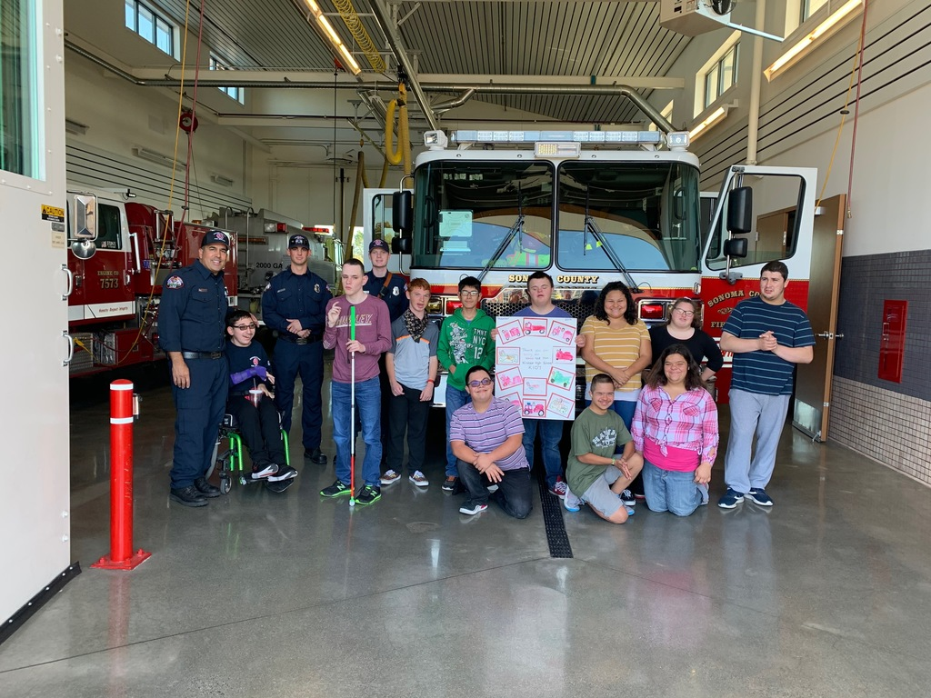 NCC High School Class Picture at the Fire Station