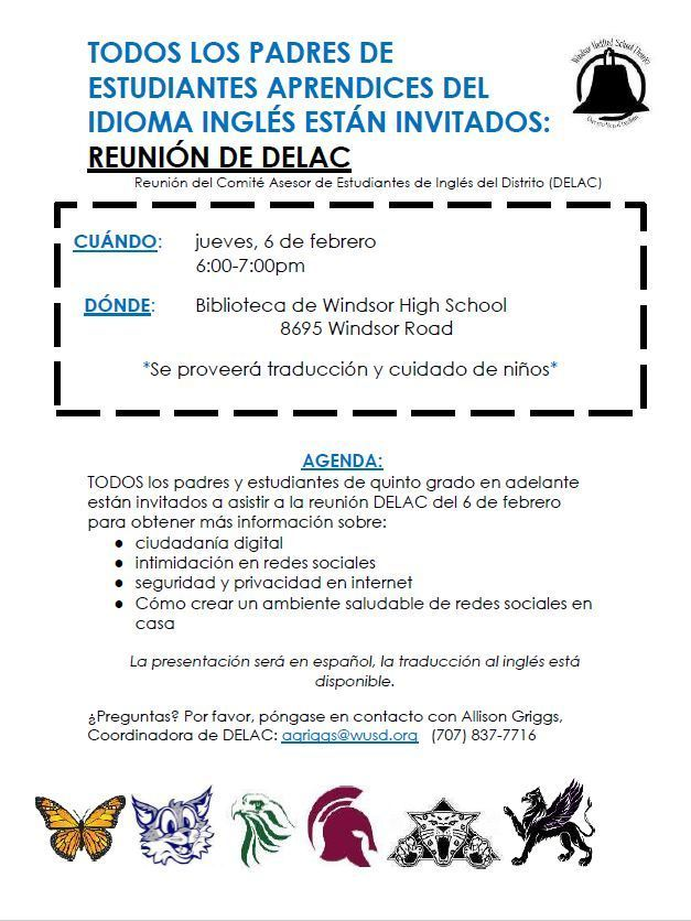 DELAC flyer in Spanish