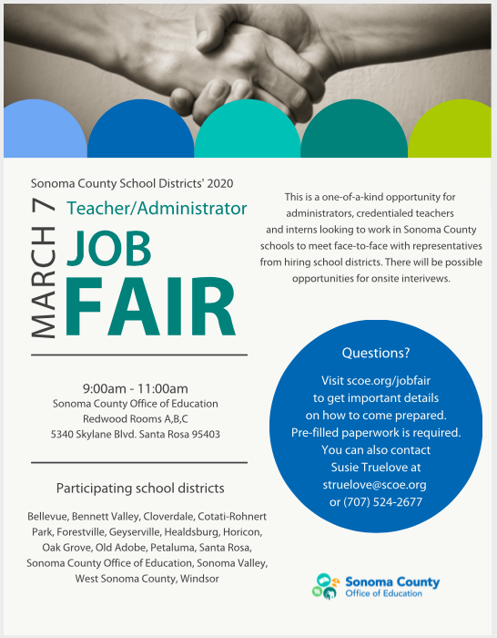 Sonoma County Teacher and Administrator Job Fair
