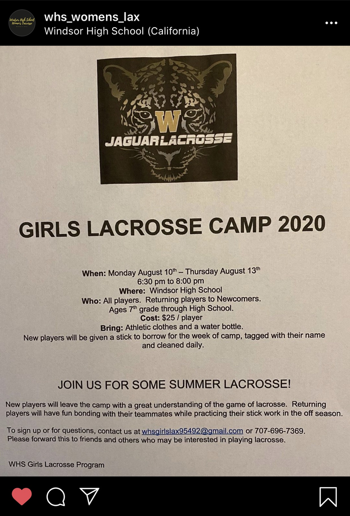 Go to @whs_womens_lax on IG to follow!